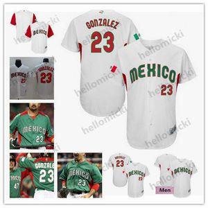 Mexico 23 Adrian Gonzalez 3 Luis Urias 5 Brandon Laird Julio Urias 48 Joakim Soria 2017 World Baseball Classic Jersey Green White S-4XL
