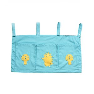 2020 Rooms Nursery Hanging Storage Bag Cartoon Baby Cot Bed Crib Organizer Toy Diaper Pocket For Newborn Crib Bedding Set