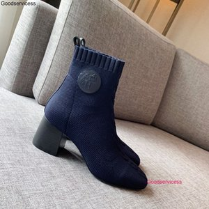 New Autumn And Winter Fashion Ankle Boots Women Street Style Knitted Short Boots wan1