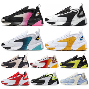 2019 hommes nike Zoom 2K air max Lifestyle Chaussures de course Blanc Noir Bleu ZM 2000 des années 90 style Trainer Designer Baskets Extérieures M2K Confortable Causal Chaussures