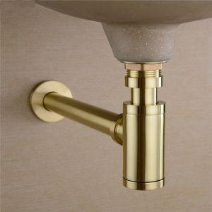 الحمام حوض المغسلة الحنفية زجاجة فخ استنزاف كيت النفايات TRAP البوب استنزاف تلطيف الجو ناعم الذهب / أسود / برونزية / كروم