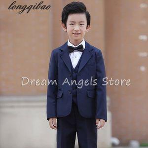 (Jackets+Vest+Pants+Shirt+Bow tie)Boy Suits Flower girl Slim Fit Tuxedo Brand Fashion Bridegroon Dress Wedding Suits Blazer 06