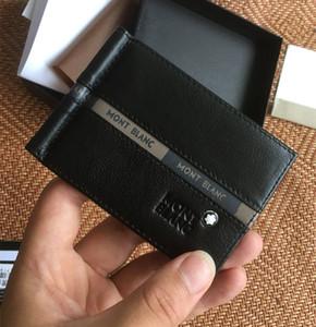 Mens Wallet Dollars Clip 패션 디자이너 짧은 지갑 최고 암소 가죽 머니 클립 씬 지갑 신용 카드 홀더 박스 포장