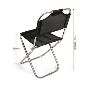 Montañismo al aire libre silla plegable de aviación silla de respaldo de aluminio silla de pesca banco de tren portátil mini asiento portátil