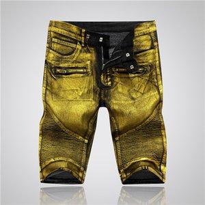 2020 New Arrival Top Quality Brand mens Designer Denim Short Jeans Embroidery short Pants Fashion Holes Trousers Hip Hop fear of god