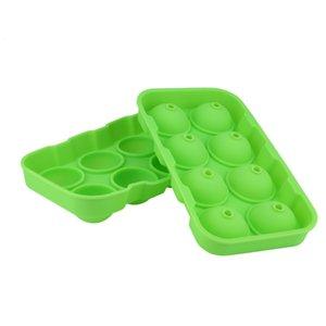 Kugelform Eiswürfelbereiter 8-Spherical-Eis-Behälter-Form-Lagercontainer Hauptdekoration Zubehör Küchengeräte