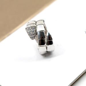 Женщины кольцо змея формы ювелирных изделий 18K Позолоченные змея костное кольцо женщина элегантный обручальное кольцо размер 6 7 8
