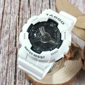 5pcs / lot NOVO Relógio de pulso dos homens da marca, Esporte dupla afixação GMT Digital LED reloj hombre relógio militar masculino relogio para adolescentes