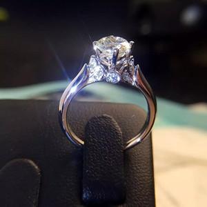 2019 Yeni varış elmas yüzük Kuğu Çinko alaşım yüzük evli kadın ayar nişan yüzüğü moda takı