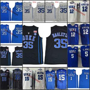 Mens Duke Blue Devils Jahlil Okafor Basketball Jersey 12 Justise Winslow 5 Tyus Jones # 1 Trevon Duval # 35 Marvin Bagley III Duke Jersey S-3X