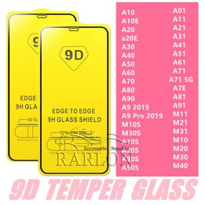 تغطية كاملة 9D الغراء الكامل خفف من زجاج الشاشة حامي لسامسونج غالاكسي M10 M30 M50 S10E A9 PRO A10E A20E A11 A21 A31 A51 A71 A81 A91 M11