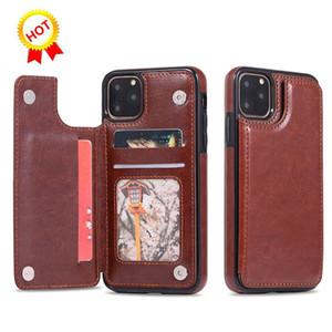 Best sellers para iPhone 11 X XR XS Max 7 8 6 Plus S10 Carteira caso luxuoso PU Leather telefone de volta caso capa com cartão de crédito Slots