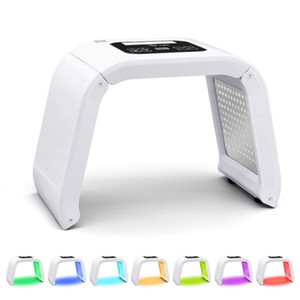 7 Farbe PDT LED-Licht-Therapie-Maschine für Hautverjüngung Photon Gelb Rot-Licht führt, Gesichtsmaske Schönheit Ausrüstung Home Use
