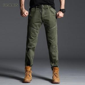 Pantalons originaux COMLION de Cargo Hommes Hommes Casual Pantalon en coton tactique Baggy multi poche de pantalon d'entraînement Taille Plus F43