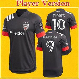 Versión del reproductor DC United de la MLS 2020 camiseta de fútbol Inicio Negro ARRIOLA KAMARA FLORES Gressel Washington camiseta de fútbol Más 10 piezas de DHL