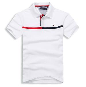 2019 all'ingrosso caldi di stile di tempo di svago del cotone europeo maschile a maniche corte T-shirt bavero estate di polo Filippo il trasporto pianura libera