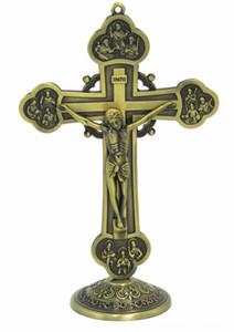 Tono Hankroi 6 pulgadas Permanente cruz del crucifijo de bronce Otra Parte Festival de suministros Festival de suministros del partido