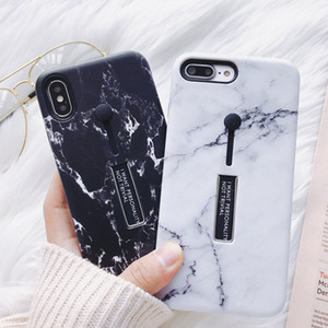 Anel de silicone de mármore telefone case para iphone 6 6s 7/8 plus para iphone x case esconder suporte titular capa para o iphone 6 s