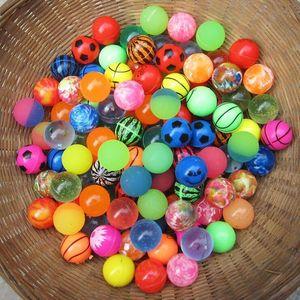 32MM Elastic Ball Bouncy Balls Printing Scrub Rubber Bouncing Balls Decompression Toy Random Styles kids toy