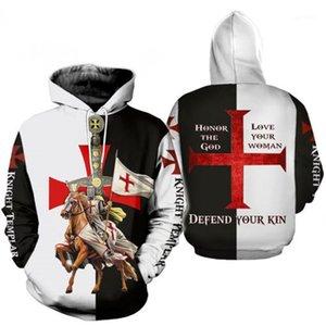Templiers Hommes Hoodies À Manches Longues De Mode À Capuche Adolescent Shirts Printemps Mâle Designer Vêtements