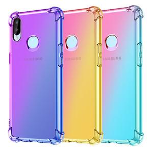 Mode dégradé coloré Téléphone cas pour Samsung A10 A20 A30 A40 A50 A60 A70 A80 A90 A2 de base A10e A20E A10S A20S A30S étoile souple TPU couverture