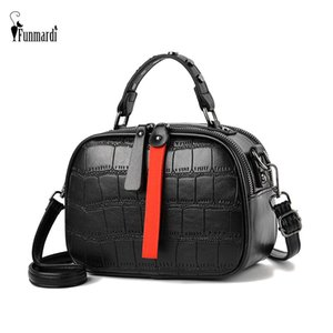 FUNMARDI Rivet Mulheres bolsas de crocodilo Designer Shoulder Bags Crossbody clássico acolchoado Saco Hit Cor Zipper Bag WLHB1970