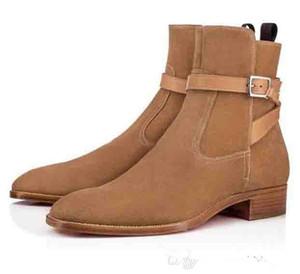 2020 botas de alta qualidade Red inferior Homens Causal nuas Calçados alta homens top marca de moda Women Flat botas Cavaleiro Confortável Moda Luxo