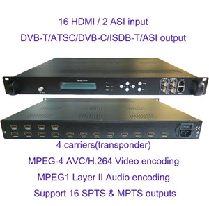 Freeshipping 4 transponders 1080P multi HD-MI to DVB-C DVB-T ATSC ISDB-T encoder Digital TV Headend RF Modulator VEK-4782I-12 16