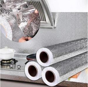 Fallpapers aluminiumfolie tapeten wasserdicht verdickung küche tapete 3d ölfestes feuchtigkeitsdicht staubfest küche liefert dhc86
