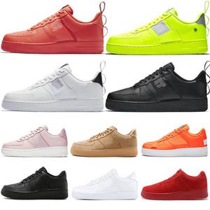 Top 1s Dunk Utility shoes Классические черные белые кожаные мужские кроссовки модные синие красные пшеничные замшевые низкие дизайнерские кроссовки высокого бренда