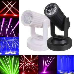 Новые RGB / синий / красный / белый светодиодный прожектор луч света этапа мини-3W для DJ Disco Bar KTV партии Освещение сцены Эффект AC110-220V