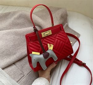 New 2020 Handbag Kitten Bag Stylish Embroidered Rhomb Shoulder Bag PH-CFY2006014