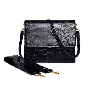 Handbags Women Bags Crocodile Pattern Women Leather Handbag Lady Shoulder Womens Bags Wide Strap Crossbody Bag