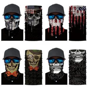 E Skull Scarf Ice Silk Mask Black Lives Matter Magic Scarves Sunscreen Headband Summer Outdoor Riding Face Protective Mask #969#259