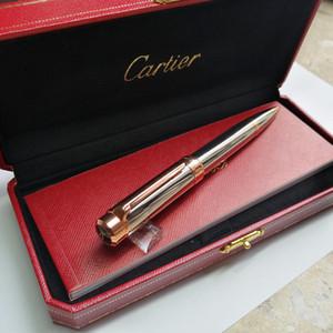 Livraison gratuite Limited Edition Métal Rollerball Stylos Stylo à bille en métal avec un stylo rouge boîte comme cadeau stylo à bille de luxe Bureau cadeau école