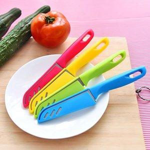 Süßigkeit farbige Frucht-Messer-Edelstahl-Frucht Schäler Küche Gadget Tragbare Schere mit einem Messer und Mantel VT0412
