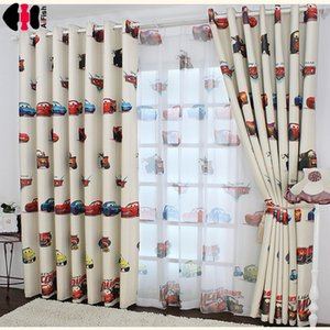 Мальчики Автомобили Шторы и тюль плотными шторами Ткань Детская Детская комната Шторы Draperie французские шторы для детей эркером