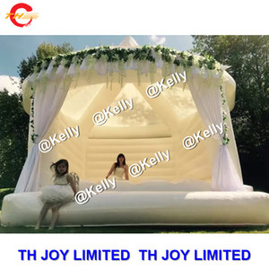 5x4m pvc tarpaulin commercial inflatable wedding bouncer for sale 2019 hot sale white inflatable bouncy castle for photoshooting