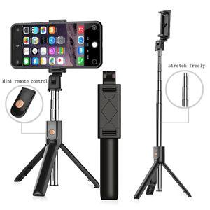 K07 3 in 1 drahtloser Bluetooth Selfie-Stick Ausziehbare Stativ mit Auslöser für iphone 11 Samsung S20 Tragbare Bluetooth-Einbeinstativ