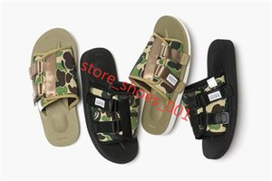 2020 New A Bathing x Mastermind JAPAN Skull x Beach Slippers Olive Green MMJ Man And Women Lovers Fashion Casual Sandals 36-45 Hococal