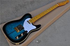 Custom Shop Merle Haggard Signature Tuff Dog TL Tele Caster Guitare électrique, SUPER RARE, éclat bleu, finition or