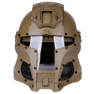 Tactical Ballistic Helmet Side Rail NVG Sindone base di trasferimento Army Combattimento Airsoft Paintball Pieno Viso Maschera Casco
