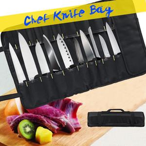 요리사 칼 가방 롤 가방의 3 색 선택은 케이스 (22 개) 포켓 부엌 휴대용 내구성 보관 블랙 블루 그린 조리 수행