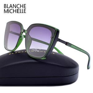블랜치 미셸 2018 고품질 고양이 눈 편광 된 선글라스 여자 Uv400 선글라스 대형 거울 태양 안경 브랜드 Y19052001