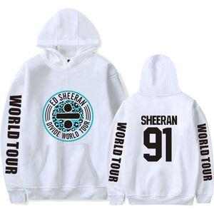 Ed Sheeran impresa para hombre diseñador de la marca Hoodies Hip Hop High Street sudadera delgado elástico Casual suéter masculino