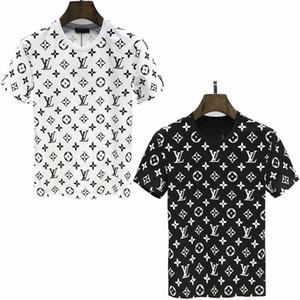 European Paris embroidery contrast patchwork T-shirt fashion mens designer T-shirt Medusa casual T-shirt mens womens T-shirts