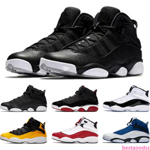 Top 6 Rings Mens Basketball Shoes Bred Concord Matte Silver Taxi White University Red Men Trainers Sports Sneakers Size 7-13 Drop Shipping