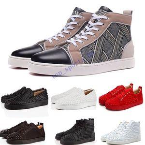 Дизайн Обувь Spike младший икроножных Low Cut Mix 20 Кружевные Sneaker Luxury Party Свадебная обувь из натуральной кожи Шипы шнуровке Повседневная обувь
