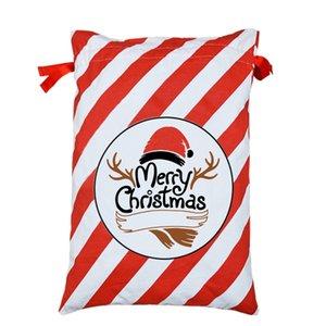 Neue Weihnachtsmann-Geschenk-Beutel-Weihnachtsgeschenk-Postsack-50 * 70cm Canavs Drawstring-Beutel Sankt-Sack-Weihnachtssüßigkeits-Beutel für Kinder