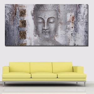 Big Buddha Taille Peinture Wall Art Image toile pour mur Salon Décoration Grande Photos Religion Art 191005